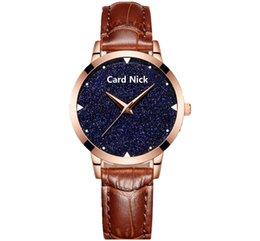 Wholesale Bright Design - Fashion 2018 lady women Bright stars sky design leather watch wholesale ladies casual simple dress quartz party wrist watches