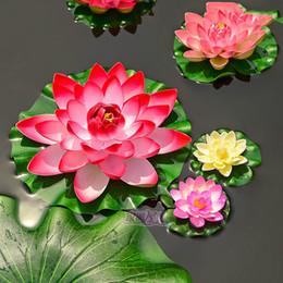 Wholesale-1pcs / lot 28cm schiuma di seta artificiale fiori falso bouquet per la decorazione di nozze acquario galleggiante giglio d'acqua loto da