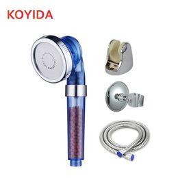 Wholesale Handheld Shower Sets - KOYIDA Bathroom Shower Head Set High Pressure Water Saving ShowerHead Handheld Round Filter Shower Bathroom Accessories ducha