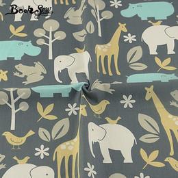 09b9c35646f4f Çin Booksew Dikiş Kahverengi Malzeme% 100% Pamuklu Kumaş Tekstil Tela  Scrapbooking Baskılı Hayvanlar Tema