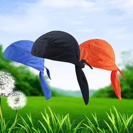 Bandana seca on-line-Homens Mulheres Headbands Secagem Rápida Sweat Sweat Bandana Chapéu Esportes Sweatband Headwear Equitação Cap CS Tático Esporte Capuz Acessórios