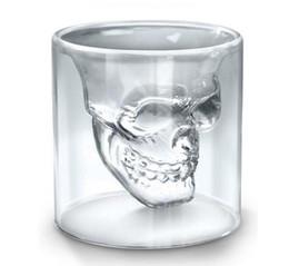 25 ML Copo De Vinho Crânio Copo De Vidro Copo De Cerveja Whisky Decoração de Halloween Partido Criativo Transparente Drinkware Copos Beber de