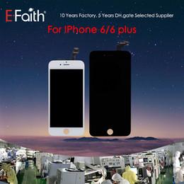 Grau a +++ display lcd para iphone 6 touch digitador tela completa com substituição completa quadro de montagem para iphone 6 plus