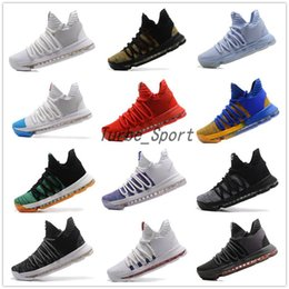 Wholesale Kd Shoes High Cut - Cheaper 2018 Kevin Durant 10 Basketball Shoes for Men High Quality KD 10 Training Sneakers KD10 Athletic Shoes Size 7-12 Free Shipping