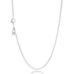 Comercio al por mayor de Las Mujeres 60 CM S925 Cadena de Plata Esterlina Collar Original Fit Pandora Joyería Encantos Colgantes de La Joyería para Las Mujeres desde fabricantes