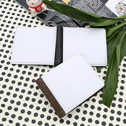 Wholesale Blanks For Sublimation Printing - men wallet for sublimation man wallet with two sids printing thermal transfer printing blank purse hot styles