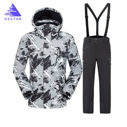 Ski Jacket Men Winter Clothing Male Snowboard Jacket Pants Suit Waterproof  Thermal Breathable Professional Snow Clothes Set f611e6a01