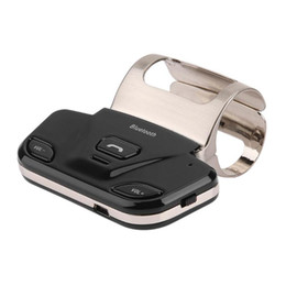 Wholesale steering wheel mp3 player - VODOOL Portable Car Steering Wheel Controller Wireless Bluetooth Car Kit Hands-free Speakerphone MP3 Audio Music Player Charger