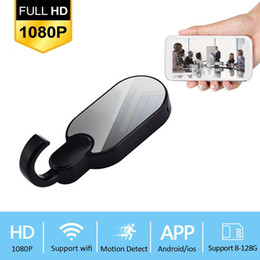Wholesale quality spy camera - High Quality 1080P WIFI Spy Clothes Hook Camera Remote Night Vision Clothes Hook 12Mp Hidden Camera Support 4 Hours Continuously Recording