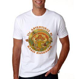 funghi d'epoca Sconti 2018 Magic Mushroom Vogue Printed Edge Maglietta da uomo Vintage Magic Mushroom Shirt Harajuku Summer Top manica corta T Shirt da uomo Tee