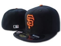 Gros sur le terrain des hommes de géants équipée chapeau plat Brim brodé lettre SF équipe logo fans baseball chapeau géants de qualité supérieure complètement fermé Chapeu ? partir de fabricateur