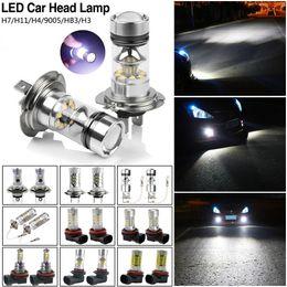 2019 головка h4 TSLEEN 2 x CREE Car LED Bulb H3 H4 H7 H11 HB3 Fog Driving Car LED Headlight High Power DRL Driving Head Tail Light скидка головка h4