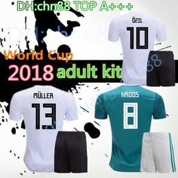 camisa ozil alemanha Desconto Alemanha 2018 Copa do Mundo OZIL MULLER casa camisa de futebol 18 19 GORETZKA REUS GOTZE KROOS Germanys DRAXLER WERNER Neuer Fora camisas de futebol