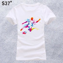 1a3ac2b3bfe9 S37 New ball printing Girl Shirt summer fashion Women T Shirt novelty  casual Tops hipster cool ladies Tee  478