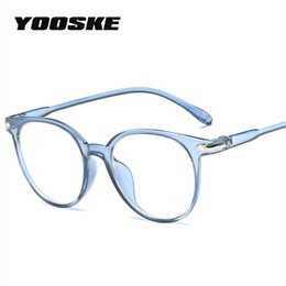 837b90b076 YOOSKE 2018 Women Glasses Frame Men Eyeglasses Frame Vintage Round Clear  Lens Glasses Optical Spectacle