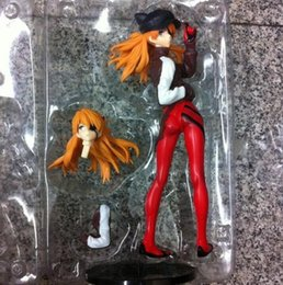 Wholesale Asuka Langley - 24cm EVA Neon Genesis Evangelion Soryu Asuka Langley Action Figures PVC brinquedos Collection Figures toys for christmas gift