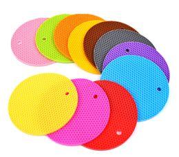 2019 almofadas de vinil 2018 rodada Silicone tapetes De Mesa multi cores Isoladas Anti-skid calor resiatance pads para talheres tigela de café xícaras