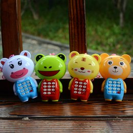 Wholesale Best Music Mobile - Creative Cartoon Music Phone Baby Toys Mobile Phone Educational Learning Electric Toy Model Machine Best Gift for Kids