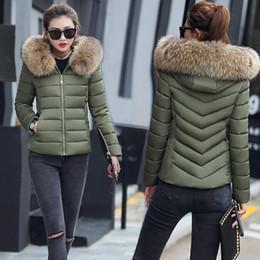 2019 parka de inverno verde feminino Sólido Regular Moda Feminina Bolsos Casaco Com Capuz Casaco de inverno Casaco de Manga Comprida Casual Zipper Slim Outwear Mais Grosso