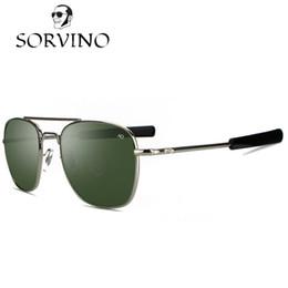 b01a838662c2 SORVINO 2018 James Bond MILITARY AO Sunglasses Men Brand Design American  Optical Lens Army Air Force Square Sun Glasses ao sunglasses for sale