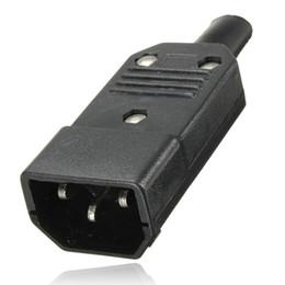 Nouveau connecteur mâle 3 broches CEI 320 C14 C14 noir Prise de connecteur d'alimentation réutilisable CA 250V / 10A Montage sur panneau Prise de courant ? partir de fabricateur