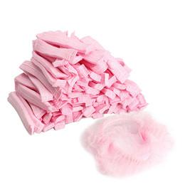 Wholesale Disposable Hair Shower Cap - 100PCS Disposable Shower Caps Non-woven Pleated Anti Dust Hat Women Men Bath Caps for Spa Hair Salon