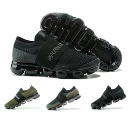 Wholesale Black Shoes New Model - New arrival fashion big shoe lace model men's Running Shoes black army green outdoor sneakers authentic vapormax mans athletic shoes