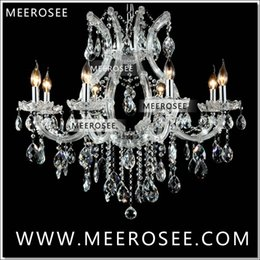 Wholesale maria crystal chandelier light - Hot selling Maria Theresa Clear White Crystal Chandelier Lamp Luster Cristal Pendelleuchte Light Fixture top quality 8 Lights
