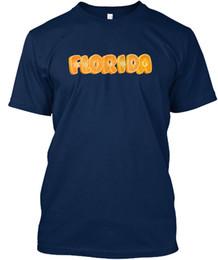 Camiseta branca laranja on-line-Laranja Florida Stylisches T-Shirt Da Camisa Dos Homens do Sexo Masculino Projetado Branco Manga Curta XXXL Grupo Personalizado Tshirt O-pescoço Camiseta