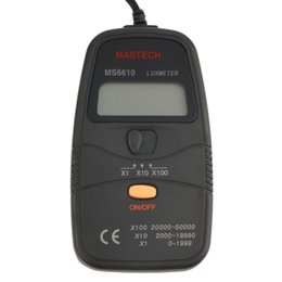 Wholesale digital lux light meter - NEW 1pcs Hot Mastech MS6610 Digital Lux Meter Luxmeter Light Meter 0-50000lux
