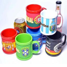 9 stil Rusya Dünya Kupası Kupalar Ulusal Bayrak Futbol Kupası Su Içme kahve Kupa Sağlıklı PVC plastik Çay Süt Fincan Kolu ile Hidrasyon nereden tavuskuşu saç tokası aksesuarı tedarikçiler