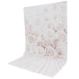 Wholesale White Vinyl Backdrops - hoto Studio Backgrounds 3x5ft Vinyl White Rose wood Wall Floor Photography Background For Studio Photo Props Photographic Backdrop Cloth ...