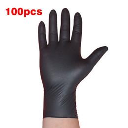 2020 guanti meccanici xl 100 PZ / SET Pulizia Domestica Lavaggio Guanti Monouso Meccanico Nitrile Nero Laboratorio Nail Art Guanti Antistatici D18110705 guanti meccanici xl economici