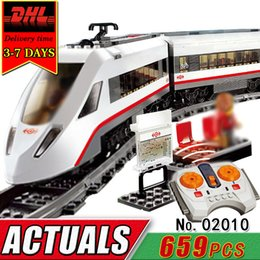 Wholesale Wooden Train Track Cars - DHL LEPIN 02010 Electric RC Car Building Blocks Set Compatible Brick Remote Control Track Train Educational Toy For Children Kid