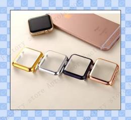 Argentina Para la galvanoplastia Iwatch Cases Ultra Thin Apple Watch Serie i1.2,3 38mm 42mm PC Protector de pantalla completa Cubierta de la caja cheap apple iwatch screen protector Suministro