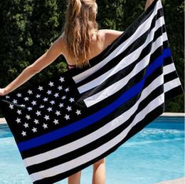 2019 drapeau en nylon 90 * 150cm USA Drapeaux Thin Américain National Bannière Blanc Et Bleu Étoiles Imprimé Bande avec Oeillets En Laiton