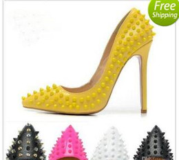 Wholesale hot pink glitter heels - 2018 Hot Sales Brand Glitter Red Bottom Spiked High Heels Women Luxury Shoes Sequins heels Party Wedding Shoes Pointed Toe Pumps