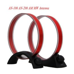 Alta calidad TECSUN AN-100 AN-200 AM MW Antena Para Radio FM Sintonizador de onda media Radio Accesorio Herramienta de antena de antena 2 estilo Negro desde fabricantes