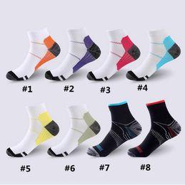 Wholesale Running Compression Socks - Unisex Compression Socks Men Anti-Fatigue Plantar Fasciitis Heel Spurs Pain Sport Running Short Ankle Sock For Men Women