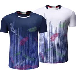 2018 nuevas camisetas de bádminton, ropa deportiva para hombres y mujeres, ropa deportiva para tenis de mesa, camisas de tenis transpirables de secado rápido. desde fabricantes
