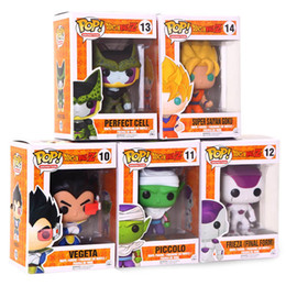 Wholesale goku action toy - Dragon Ball Funko Pop Figure Frieza Son Goku Cell Vegeta Piccolo Action Figures Dragon Ball Collection Doll Kids Toys