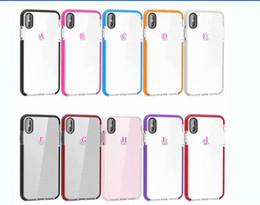 Iphone xr hibrid yumuşak tpu için iphone xs max için çift renk temizle bicolor silikon coque lüks temizle jel cep telefonu cilt kapak renkli nereden