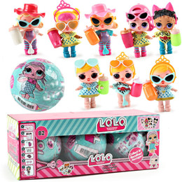 Wholesale Color Changing Toys - 10cm 7cm 9cm Kawaii Glitter Doll LOL Doll Color Change Egg Ball Dress Up Toy Action Figure Dolls Funny Kids Birthday Party Gift