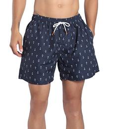 mesh shorts strand Rabatt Herren Designer Shorts Quick Dry Badehose Stripe Beach Shorts mit Mesh Liner Pockets Herren Stripe Casual Short Herren Swim Hot Trunks