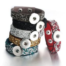 10pcs//set Rhinestone 18mm Alloy Snap Buttons Fit Noosa Necklace Bracelet N431