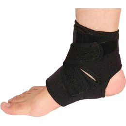 Wholesale Equipment For Football - 2018 NEW Sport Adjustable Foot Ankle Support Elastic Brace Guard Ankle Protector Football Basketball Equipment For Men &Women