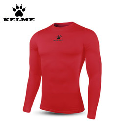 11c68dacdc5e KELME 2016 Marke Mens Compression Tights Shirt Männlich Gym Basketball Lauf  Sport Langarm Engen Herren Shirts S-XXXL 06 mens spandex gym shirt Outlet
