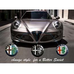 Canada 74mm Style de voiture Couleur Spéciale pour ALFA ROMEO croix rouge Logo emblème Badge autocollant pour Mito 147 156 159 166 cheap alfa red Offre