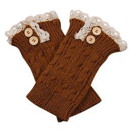 Wholesale Lace Trimmed Socks - Bluelans Women Girl Crochet Knitted Lace Trim Boot Cuffs Toppers Leg Warmers Winter Socks