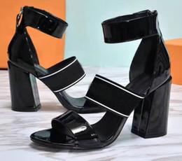 Wholesale Stylish Women Sandals - 2018 classic women kitten heel shoes woman sandals leather slides sapatos femininos zapatos mujer female stylish leather sandals